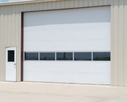 Commercial Sectional Door with One Full View Section