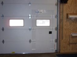 Commercial Sectional Overhead Door with Pass Door