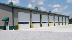 Commercial Sectional Doors with Full View Window Section