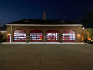 Fire Station at night