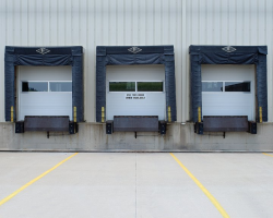 Sectional Doors with Dock Seals